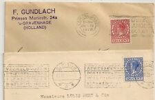 2 COVERS NETHERLANDS GRAVENHAGE DEVENTER TO BARSAC FRANCE. DADUIN. L1017