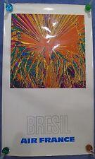 1971 Bresil (BRASILE) AIR FRANCE-vintage TRAVEL poster-Affiche Aeronautique