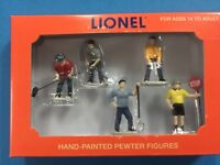 """Lionel 6-14241 Work Crew People  Hand-Painted Pewter Figures O Gauge """"BRAND NEW"""""""