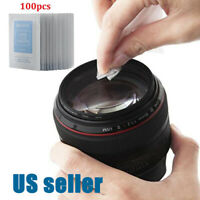 100* Ethanol Cleaning Cloth Pre-Moistened Camera Lens Glasses Phone LCD Screen