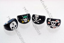 Wholesale Mixed Lots 20Pcs Skull Children/Kids Resin Lucite Rings Jewelry FREE