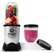 Magic Bullet Mini Blender, 7 Piece Set, 200 Watt with Cross Blade, Silver 2021