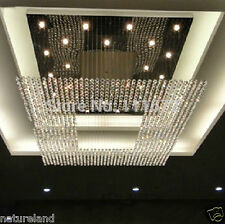 crystal big square chandelier light stair Ceiling Curtain Pendant 240x160x100cm