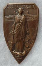 Médaille Bronze ALCAZAR DE TOLEDE FRANCO FRANQUISME ESPAGNE ARRIBA ESPANA 1936