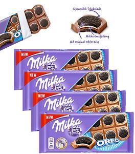 4 x OREO Milka NEW Sandwich Shape Chocolate Bars 92g / 3.2oz