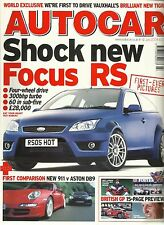 Autocar 6th July 2004, Ford Focus RS, Phaeton, 911, DB9, Tigra, BMW 525i Touring