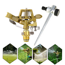 More details for 360°rotating garden sprinkler lawn automatic watering irrigation nozzle + pin uk