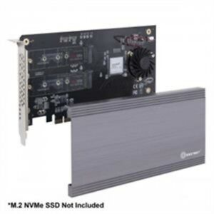 SYBA SI-PEX40129 I/O Card Dual M.2 NVMe Port PCIE3.0x16 to 2xM-Key Adapter