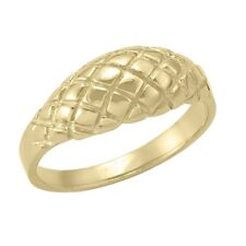 10k Yellow Gold Ring with fancy Pattern Design, sz: 5.5 (NEW band, 2.5g) #1990
