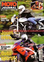 MOTO JOURNAL 1313 Essai Test KAWASAKI ZX-6 R Ninja SUZUKI GSX 750 YAMAHA YZ 400