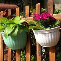 Plastic Wall Hanging Flower Pots Garden Fence Balcony Basket Plant Pot Planter