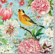 MDW-TWO (2) Paper Luncheon Napkins for Paper Crafts, Floral, Birds