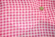 Red & white check chiffon dress fabric @ £3.75/m 1.45m wide