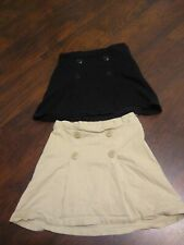 Lot of 2 The Children's Place Girl's Uniform Skirt Skort Sz 12 Adjustable Waist