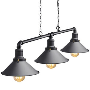Industrial Steam Punk 3 Way Over Table Light Indoor Ceiling Hanging Light M0053