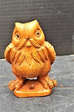 "antique japanese netsuke "" The Wise Old Owl """