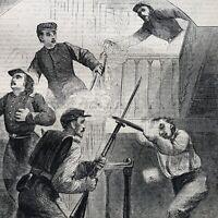 2 1861 CIVIL WAR newspapers COL ELLSWORTH KILLED in ALEXANDRIA Zouaves MURDER