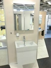 Duravit DELOS Badmöbel 60cm weiß + VERO Waschtisch 60 cm + LED-Spiegelschrank