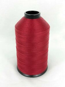 A&E Sewing Thread Scarlet Red 8 Oz Spool #69 Bonded Nylon T70 Fabric N357 USA
