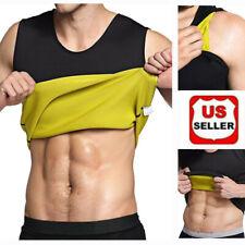 Men's Neoprene Sauna Vest Sweat Shirt Redu Fat Body Shaper GYM Training Top US