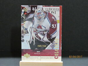 2002-03 UD SuperStars Gold #67 Patrick Roy SN 209/250