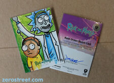 2019 Rick and Morty Season 2 Sketch Card Jimenez Original Art AP 2