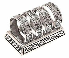 Napkin Holder Pewter napkin rings celtic design with stand Silver Napkin Rings