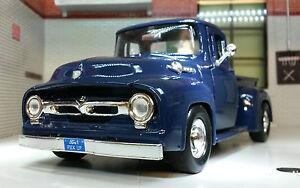G LGB 1:24 Scale Blue Ford F100 Pickup Ute Van 1956 Truck Diecast Model 73235