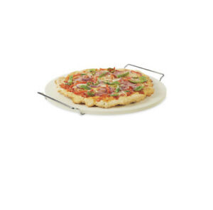 """Large 15"""" Premium Pizza Stone with HandlesBaking Plate for Oven and BBQ - Round"""