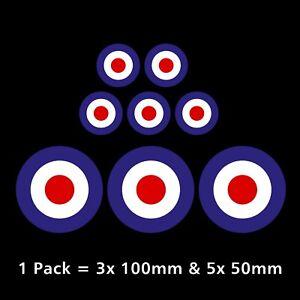 RAF MOD Roundel Target Stickers - Van, Car, Scooter, Vespa, Royal Air Force