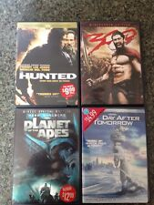 Lot Of 4 Action/thriller DVD Hunted 300 Planet Apes Day After Tomorrow