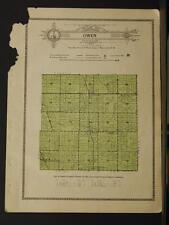 Indiana Clinton County Map Owen Township 1919 Y8#68