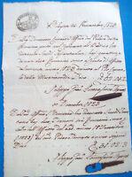 1823 DOCUMENTO SU CARTA BOLLATA DI BUDRIO DI BOLOGNA