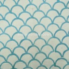 5 Yard Indian Hand Block Print Cotton Voile Decorative Fabric Crafting Sewing