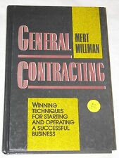 General Contracting Winning Techniques Starting Operating Business Mert Millman