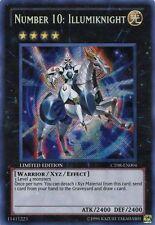 NUMBER 10 ILLUMIKNIGHT Yugioh PROMO Rare Card Mint CT08-EN004 Secret