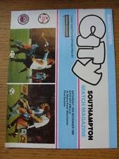 15/11/1980 Manchester City v Southampton  (Score & Subs Noted). Item In very goo