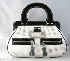 GUESS BY MARCIANO WHITE MULTI FREEDOM SATCHEL, BAG-NEW