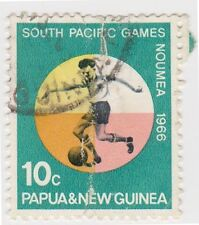 (PNG100) 1966 PNG 10c  multicolour Football ow98