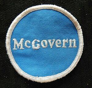 "1972 "" Mcgovern "" George Mcgovern Pour President Veste Étamine Patch Rare"