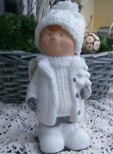 Clayre&Eef Weihnachtsdekoration Winterkind Junge Tanne Christmas Shabby Keramik