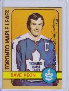 Signed Dave Keon 1972 OPC Card 108