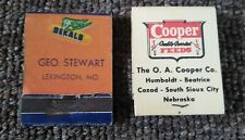 Old DEKALB HYBRIDS & COOPER FEEDS MATCHBOOKS...FULL....Nebraska & Missouri