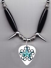 Black Veil Brides Star Logo White Guitar Pick Necklace