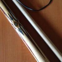 Boriz Billiards Leather Pool Cue Stick Majestic inlaid VNDGK 2 shaft Free Ship