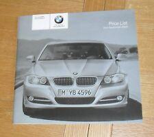 BMW 3 Series E90 listino prezzi 2008 SE M Sport 330i 335i 318d 320d 325d 330d 335d