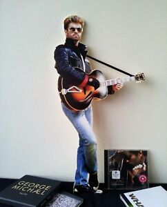 """George Michael Display Stand Standee 22"""" Faith Father Figure Figure"""