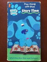 """""""BLUE'S CLUES IN STORY TIME""""HAVE YOU SEEN BLUE?.VHS.50 MINUTES.1998.COLOR"""