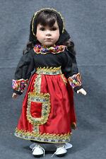 Puppe , Siebenbürgen? Tracht, 38 cm, mit Ständer