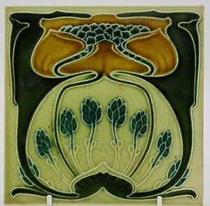 ART NOUVEAU TILE MARSDEN TILE CO. LTD FLORAL  2